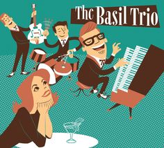 CD cover for the Austin-based project The Basil Trio headed by Basil McJagger. Cd Cover, Album Covers, Muscle Beach Party, Beach Songs, Surf Guitar, Seven Movie, Rockabilly Rules, Ways To Say Hello, Frankie Avalon