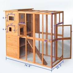 LAZYMOON Cat House Outdoor Run Wooden Cat Rabbit Home w/Outside Fun Run Small Animal Enclosure Cage * You can get more details by clicking on the image. (This is an affiliate link) Outdoor Cat Run, Heated Outdoor Cat House, Outdoor Cat Shelter, Outdoor Cat Enclosure, Wooden Cat House, Cat House Diy, Cat Tree Condo, Cat Condo, Hotel Gato