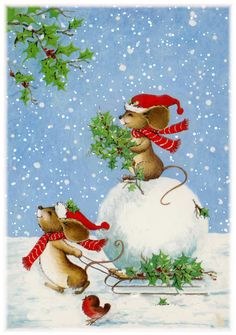 Cute Animated Christmas Mice merry christmas happy christmas christmas quote christmas greeting christmas friend