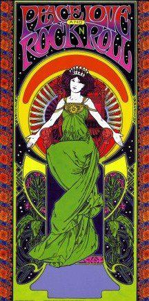 ☮ American Hippie Music Psychedelic Art ~ PEACE LOVE  ROCK N ROLL