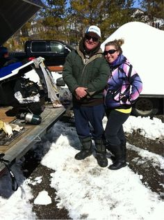 snow cross chilling with my daddy!