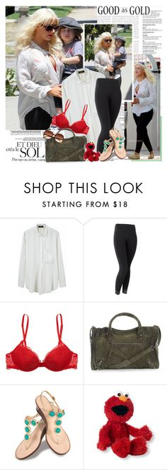 """""""Christina Aguilera"""" by zoeydiva ❤ liked on Polyvore featuring Le Mont St. Michel, Calvin Klein, Balenciaga, Lilly Pulitzer, Gund and H&M"""
