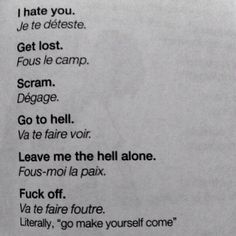 Only French words you'll need to know