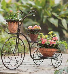 Wind & Weather's Outdoor Planters double as art! Decorative garden planters, urns, metal planters and hanging planters are all ready to make your plants smile. Outdoor Planters, Garden Planters, Indoor Outdoor, Bike Planter, Decoration Plante, Iron Furniture, Garden Furniture, Outdoor Furniture, Tricycle