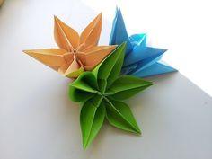 origami tutorial:Carambola Flower (Carmen Sprung) - YouTube