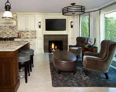 Jeffrey King Interiors Bloomfield Hill, MI Renovation Single Family Home Traditional/Contemporary Drapery Panels, Drapes Curtains, Dining Rooms, Kitchen Dining, Bloomfield Homes, Beautiful Interiors, Single Family, Home Interior Design, Home And Family