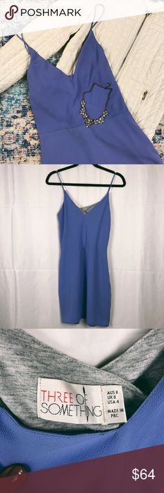 Revolve Three Of Something Periwinkle Dress Wore this once for a wedding. It's very flattering and the colors looks so beautiful against sun kissed skin.   Let me know if you have any questions   Take a look in my closet as well   No trades  All sales final  Offers often accepted Revolve Clothing Dresses Mini