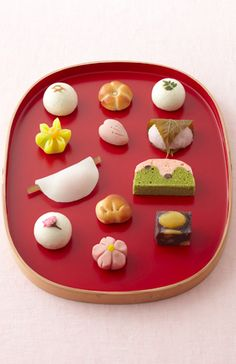 wagashi Japanese sweets--make sure to have some nice bitter green tea to go with
