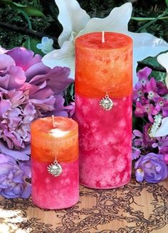 Summer Sunset Pillar Candle - pagan wiccan witchcraft magick ritual supplies