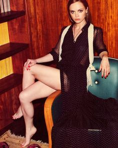 Christina Ricci in Nylon Magazine: i save this mag just for this shoot- so beautiful- love this dress Christina Ricci, Beautiful Christina, Christina Aguilera, Beautiful Celebrities, Beautiful Actresses, Beautiful Women, Beautiful People, Beautiful Legs, Seinfeld