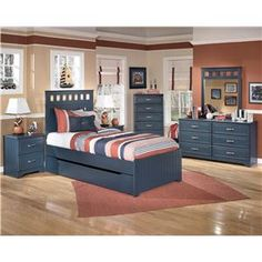 Signature Design by Ashley Leo Twin Bed with Storage/Trundle - Becker Furniture World - Platform or Low Profile Bed Twin Cities, Minneapolis...