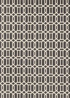 2-pc Washable Modern Fretwork Rug
