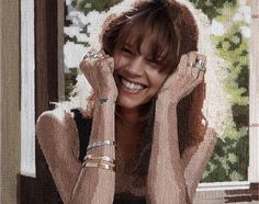 Danish model Freja Beha Ericsen's advertising campaign for Georg Jensen has been given a very crafty makeover.