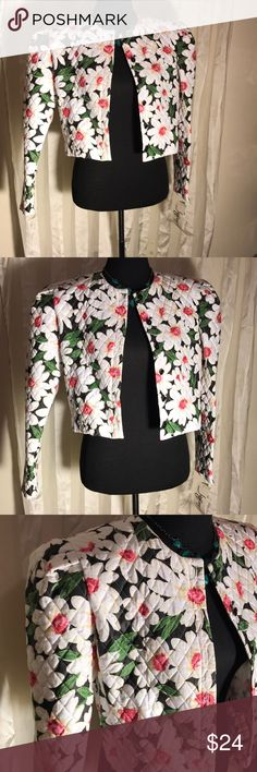 Jeffery & Dara Jacket This quilted printed vintage jacket is amazing with a pair of skinny jeans of your choice. The size is a 9/10. Very beautiful floral details. Jackets & Coats Blazers