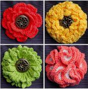Big Button Flowers - Set 2 - via @Craftsy