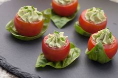 We take a look at how you can create delicious Paleo friendly canapes for festive parties and get you started with some delicious & easy to prepare ideas. Tomate Cocktail, Pesto, Christmas Party Food, Paleo Recipes Easy, Paleo Diet, Dairy Free, Breakfast Recipes, Stuffed Peppers, Healthy