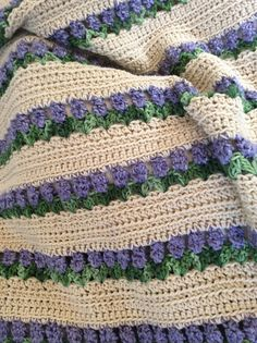 Tulips Handmade Crochet Afghan. Soft and warm flowers forever 52 X 45.