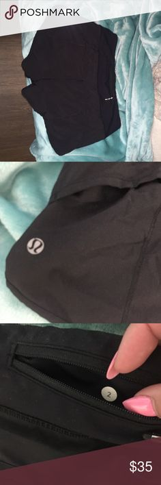 Lululemon black shorts!! These are the most comfortable pair of shorts you'll ever wear to workout or just lounge around in! Small hidden hole on the back that can definitely be fixed. Great condition otherwise. Lined with underwear. lululemon athletica Shorts