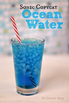 Any Sonic lovers out there? Try this yummy copycat version of their OCEAN WATER!  Only 4 ingredients!