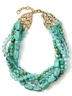 I like it, except for I would choose only 3 strands for the necklace (take out the strand of translucent beads)