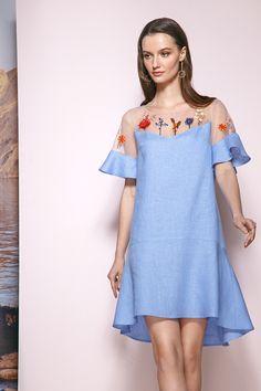 Платье Prestige 3353 голубой купить с доставкой по России | Интернет-магазин BelaRosso-shop.ru