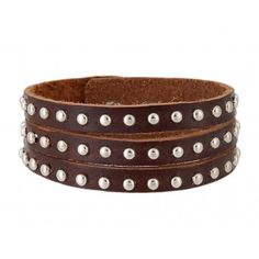 Cool Nail Leather Band Bracelet