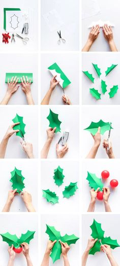 Holly Balloon Sticks (Oh Happy Day! Office Christmas, Noel Christmas, Christmas Paper, Christmas Crafts For Kids, Simple Christmas, Holiday Crafts, Christmas Ornaments, Christmas 2017, Christmas Crafts