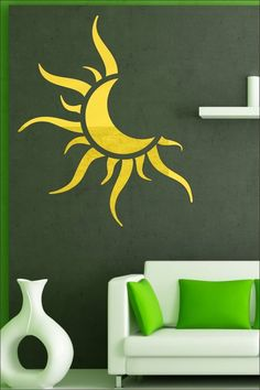 Chandramani 3D Acrylic Mirror Finishing Wall Stickers     #homedecor Wall Stickers, Decals, Acrylic Mirror, Wall Murals, 3d, Home Decor, Wall Clings, Wallpaper Murals, Tags