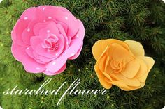 Starched Flower tutorial