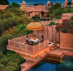 Oberoi Udaivilas Palace, India. Hindu Architecture