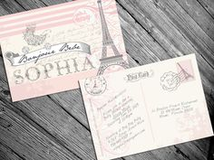Paris French Themed baby shower invitation by AlexysDesign on Etsy