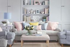 soft pastels (via Ideal Home Magazine)