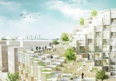 Galeria - BIG propõe edifício residencial escalonado em Estocolmo - 6