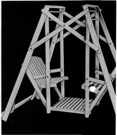 Old Fashion Lawn Swing - The Woodcrafter Page� 2004