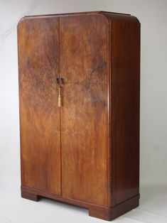 Art Deco Walnut Wardrobe With Fitted Interior - Antiques Atlas