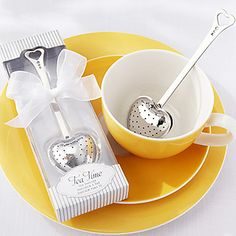 """Tea Time"" Heart Stainless Steel Tea Infuser in Elegant White Gift Box,W16.5cm xL5cm – USD $ 4.99"