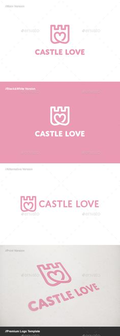 Castle Love Logo Design Template - Buildings Logo Design Template Vector EPS, AI Illustrator. Download here: https://graphicriver.net/item/castle-love-logo/11085437?ref=yinkira