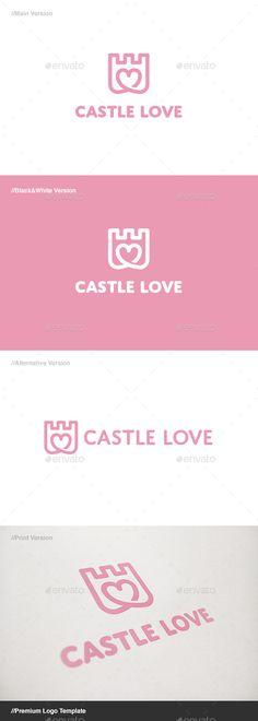 Castle Love Logo - Buildings Logo Templates