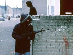 Republican armed with an M-16 during the Troubles in Ireland. IRA