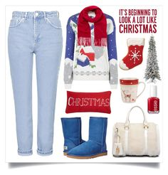 """""""Rock an ugly Sweater!!!"""" by alaria ❤ liked on Polyvore featuring Topshop, Mulberry, Sixtrees, Spode, UGG Australia, Levtex, Sterling, Essie, women's clothing and women's fashion"""