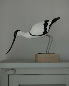 You could almost believe he's real! Avocet Feeding £37 from www.thebeachhut.com
