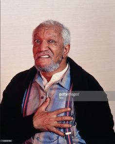 Redd Foxx as Fred G Sanford Redd Foxx, Sanford And Son, Comedy Show, Comedians, Sons, Tv Shows, Actors, American, Entertainment
