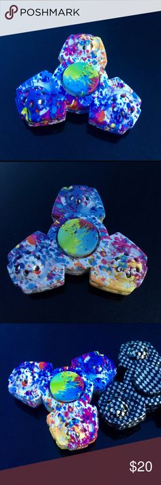 Splatter Multi Colored Fidget Spinners Brand new spinner available ,  fast free shipping available Other