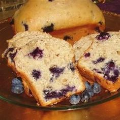 Blueberry Bread I - Allrecipes.com, leave out the nuts
