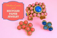 Recycled Paper Earrings | Christian Lacroix inspired Recycled Paper Jewelry