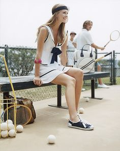 Reasons to learn tennis: 1) Cute clothes 2) Cute boys 3) If I completely fail, I can totally use that wooden racket to decorate my living room