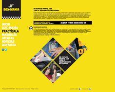 Página interior de practicalaboxmania.com, versión amarilla