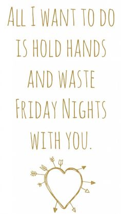 Hold Hands Waste Friday Nights
