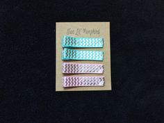 Aqua and Pink Silver Foil Chevron Clips to add a little color to your summer outfits available at: twolilpumpkins.etsy.com