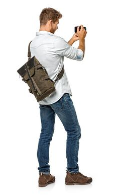 Backpack And Sling Bag For Point-and-shoot Cameras NG - Slings And Torso Packs Human Figure Sketches, Figure Drawing Reference, Pose Reference, People Cutout, Cut Out People, Photoshop Rendering, Photoshop Elements, Persona Vector, Render People